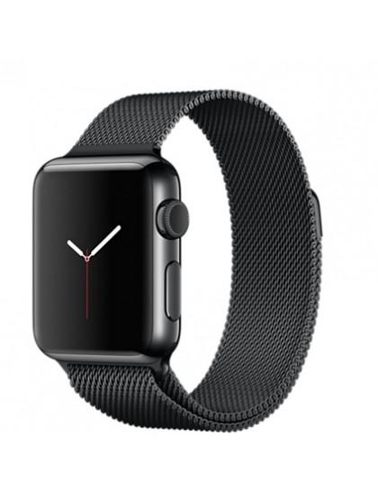 Apple Watch Series 2 42mm Space Black Stainless Steel Milanese Loop Space Black (150–200mm)(MNQ12)
