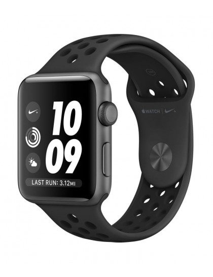 Apple Watch Nike+ Series 3 (GPS) 42mm Space Gray Aluminium Case with Anthracite/Black (MQL42)