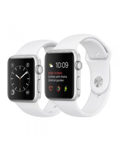 Apple Watch Series 2 42mm Silver Aluminum Sport Band White (140–210mm)(MNPJ2)