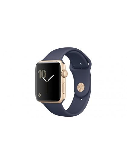 Apple Watch Series 2 42mm Rose Gold Aluminum Sport Band Midnight Blue (140–210mm)(MNPL2)