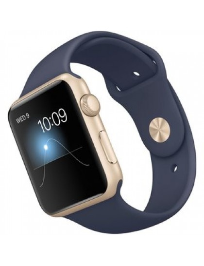 Apple Watch Series 2 38mm Gold Aluminum Case with Midnight Blue Sport Band(MQ132)